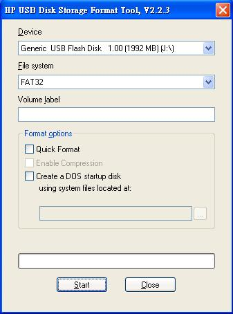 hp usb disk storage format tool 223 HP USB Disk Storage format Tool 2.23   製作usb 開機碟 usb boot